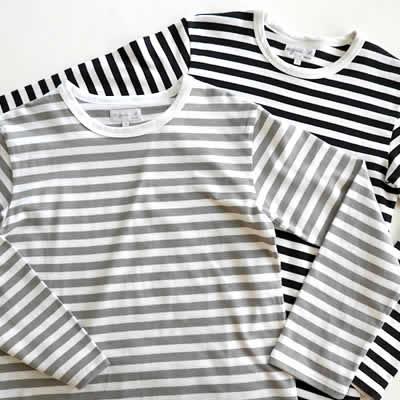 agnès bボーダー長袖Tシャツのアイテム写真
