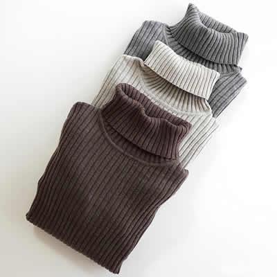 無印良品ワイドリブ編みセーターのアイテム写真