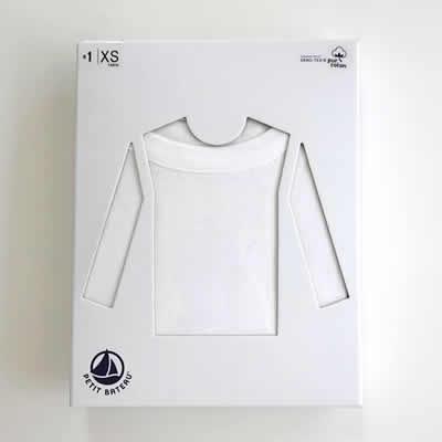 PETIT BATEAUクルーネック長袖Tシャツのアイテム写真