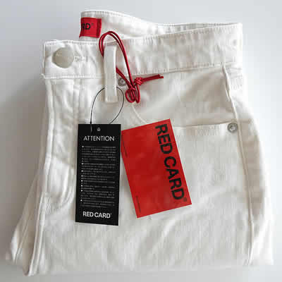 RED CARDアニバーサリーホワイトデニムパンツのアイテム写真